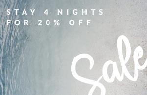 20% Off Stays Of 4+ Nights