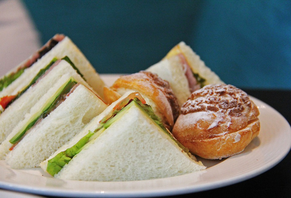 A selection of sandwiches for afternoon tea
