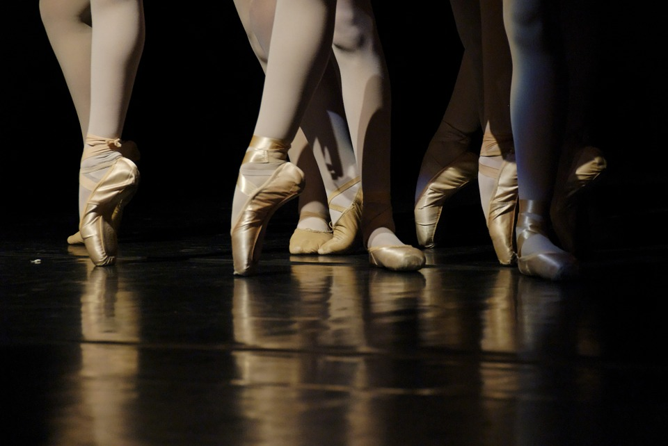 Ballet shoes from a performance in York