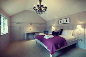 the purple bedroom at The Lawrance York