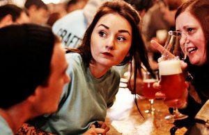 busy cider bar