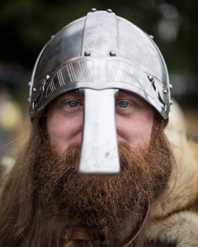 Man dressed as a viking