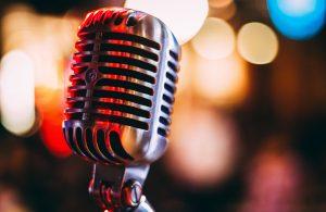 Microphone at a York music venue