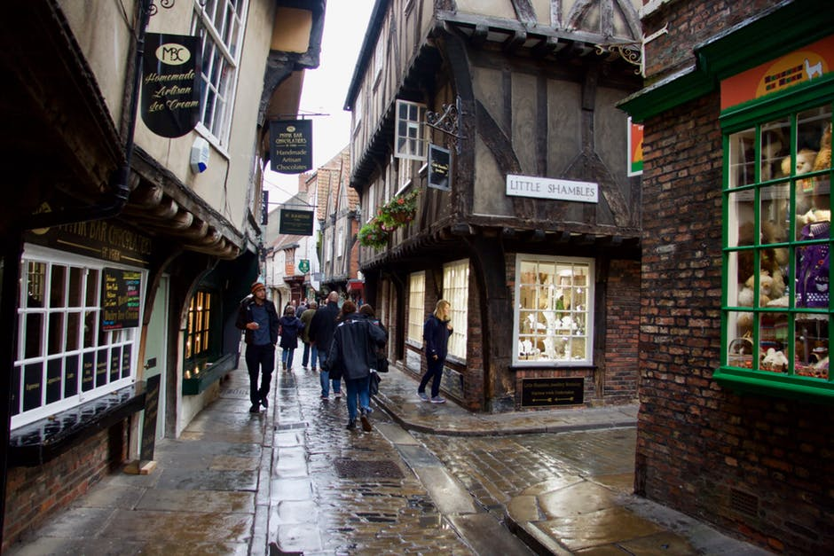 A rainy day at The Shambles in York