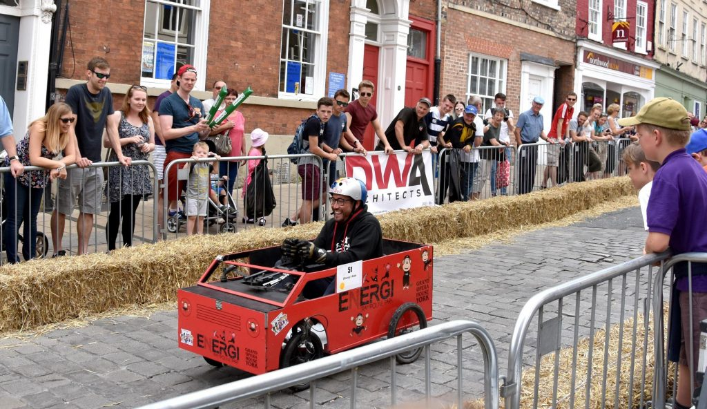 Soapbox race happening on Micklegate, York