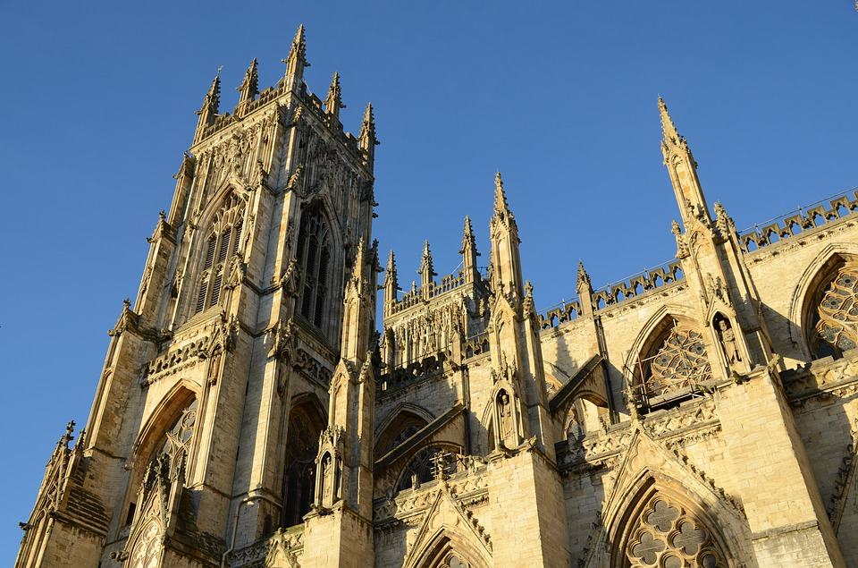York Minster in front of a blue sky