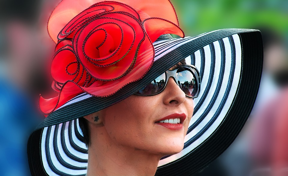 Woman in a hat at York Races